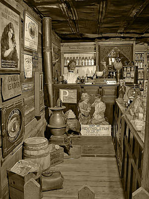 Photograph - The Drug Store Sepia by Ken Smith
