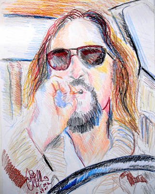 Lebowski Drawing - The Dude   by Jon Baldwin  Art