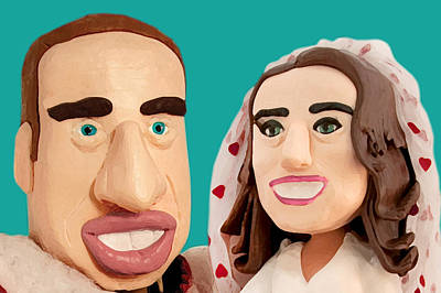 William And Kate Sculpture - The Duke And Duchess Of Cambridge by Louisa Houchen