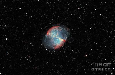 The Dumbbell Nebula Art Print by Rolf Geissinger