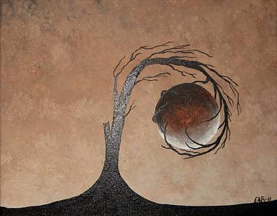 Art Print featuring the painting The Earth Element by Edwin Alverio
