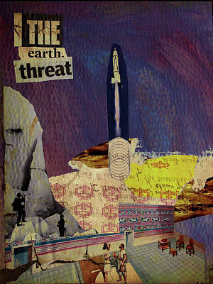 The Earth Threat Art Print by Adam Kissel