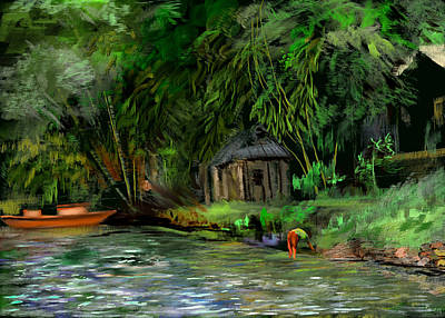 The Eco Village Art Print