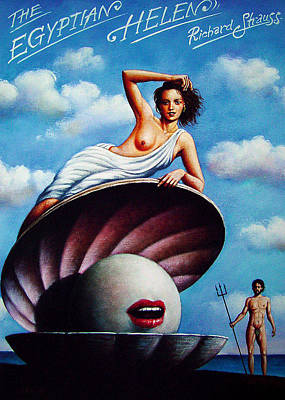 Mixed Media - The Egyptian Helen by Rafal Olbinski