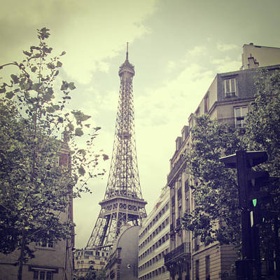The Eiffel Tower Photograph - The Eiffel Tower by Chelsea Kedron