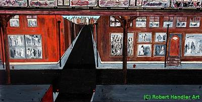 Painting - The El-the Bronx by Robert Handler