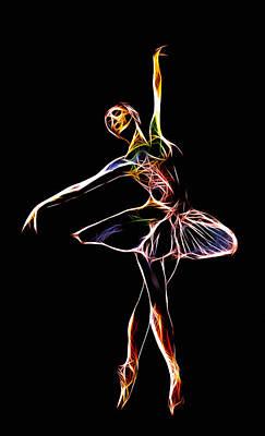 Ballet Dancers Digital Art - The  Electric Diva by Steve K