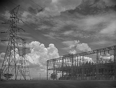 Tva Photograph - The Electrical Switchyard At The Tvas by Everett