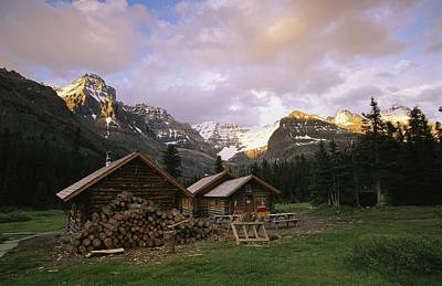 The Elizabeth Parker Hut, A Log Cabin Art Print by Michael Melford