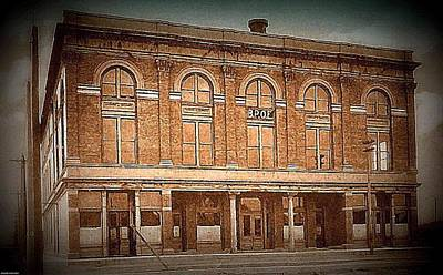 Painting - The Elks Club And Opera House In Albuquerque N M In 1910 by Dwight Goss