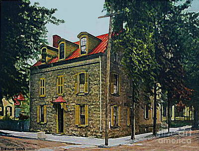 Painting - The Elmendorf Tavern In Kingston N Y In 1910 by Dwight Goss