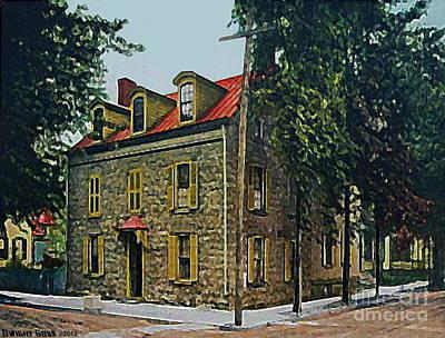 Painting - The Elmendorf Tavern In Kingston N Y In 1910 by Dwight Goss