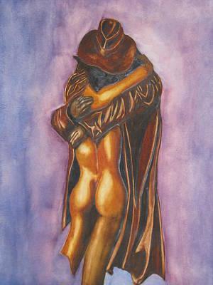 The Embrace Art Print by Emmanuel Turner