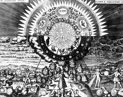 Luna Photograph - The Emerald Tablet, 1618 by Science Source