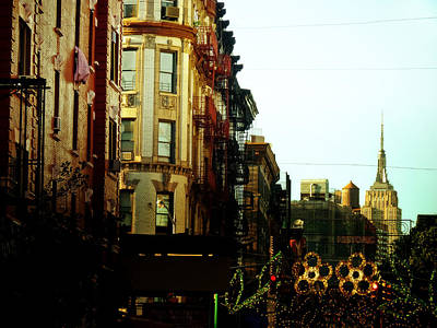 The Empire State Building And Little Italy - New York City Art Print