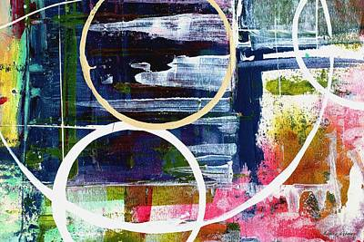Huge Abstract Art Mixed Media - The Encounter By Laura Gomez by Laura  Gomez