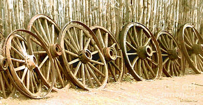 Wagon Wheels Digital Art - The End Of The Line by Cristophers Dream Artistry