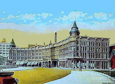 Painting - The English Hotel And Opera House In Indianapolis In In 1910 by Dwight Goss