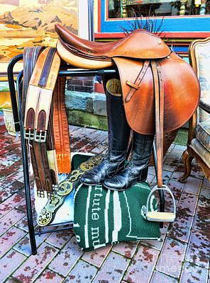 The English Saddle Art Print by Paul Ward