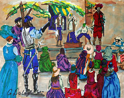 Gail Daley Wall Art - Painting - The Entertainers by Gail Daley