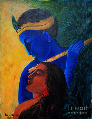 Painting - The Eternal Lovers by Asha Sudhaker Shenoy