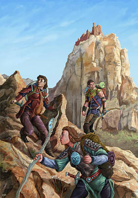 The Explorers Color Art Print by Storn Cook