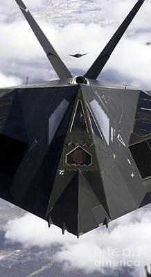 The F-117a Nighthawk Art Print