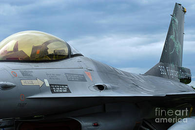 Air Component Photograph - The F-16 Aircraft Of The Belgian Army by Luc De Jaeger