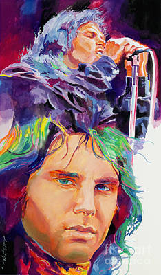 The Doors Painting - The Faces Of Jim Morrison by David Lloyd Glover