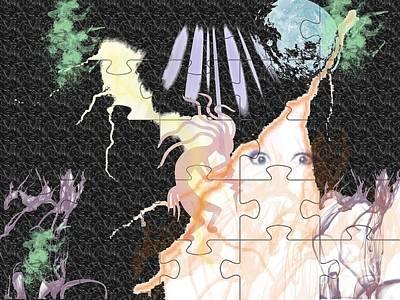 Flower Pink Fairy Child Digital Art - The Fairies Are Loose by Paula  Adams