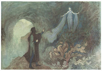 The Fairy Appearing To The Prince Art Print by Warwick Goble