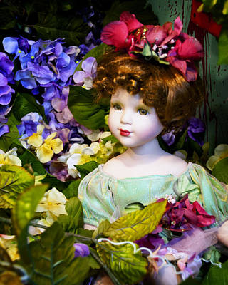 Photograph - The Fairy In The Flowers by Diane Wood
