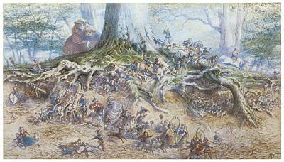 Fantasy Tree Art Painting - The Fairy Tree by Richard Doyle