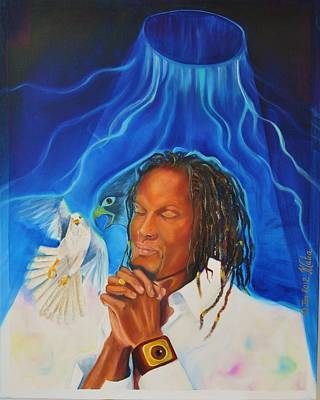 Jamaican Painting - The Falcon's Eyes by KCatia Creole Art