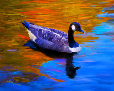 The Fall Goose Art Print by Suni Roveto