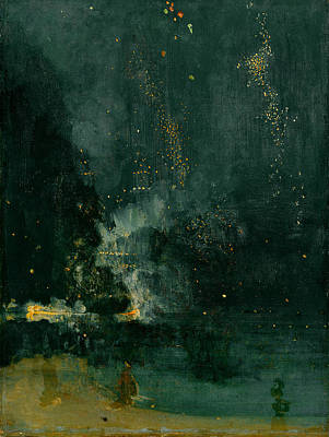 Firework Painting - The Falling Rocket by James Abbott Whistler