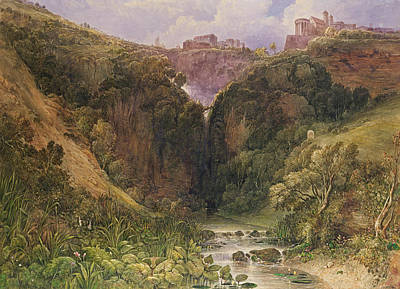 Architecture Painting - The Falls Of Tivoli by William Wyld