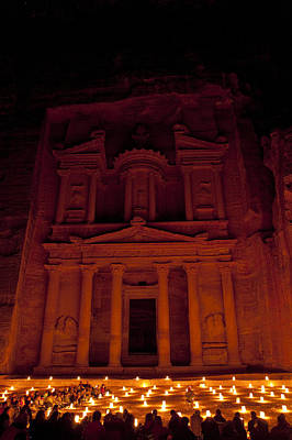 The Famous Treasury Lit Up At Night Art Print by Taylor S. Kennedy