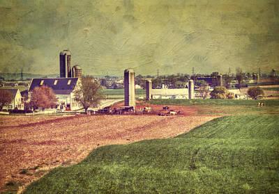 The Farm In Lancaster Art Print by Kathy Jennings