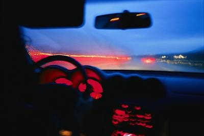 The Fast Track From The Back Seat Print by Stacy Gold