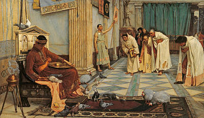 Painting - The Favourites Of Emperor Honorius by John William Waterhouse