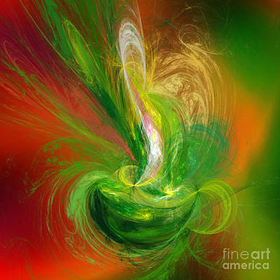 Digital Art - The Feathering Teacup by Andee Design