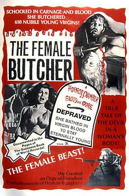 Cult Film Photograph - The Female Butcher, Aka Ceremonia by Everett