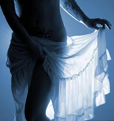 The Feminine- Walking In Her Moonlight Art Print by Nyla Alisia