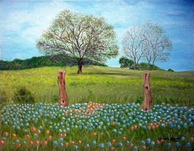 Gizelle Perez Painting - The Fence by Gizelle Perez