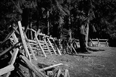Photograph - The Fence Line At Fort Nisqually by David Patterson