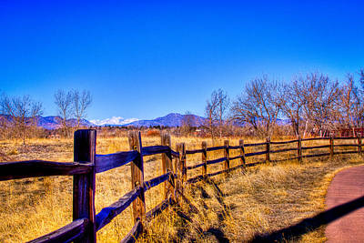The Fence Line At South Platte Park Art Print