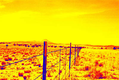 Photograph - The Fence Line by Charles Benavidez