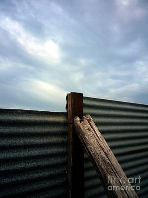 The Fence The Sky And The Beach Art Print by Andy Prendy