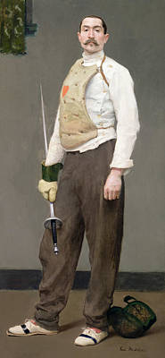 Julius Painting - The Fencing Master by Julius Gari Melchers
